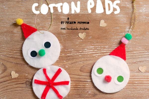 Cotton Pad Snowmen