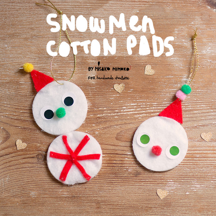 Cotton Pad Snowmen