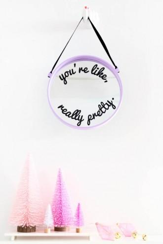 """""""You're Like, Really Pretty"""" Mirror, tutorial via Studio DIY"""