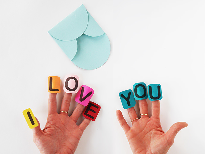Say I Love You With A Finger Craft Valentine Handmade Charlotte