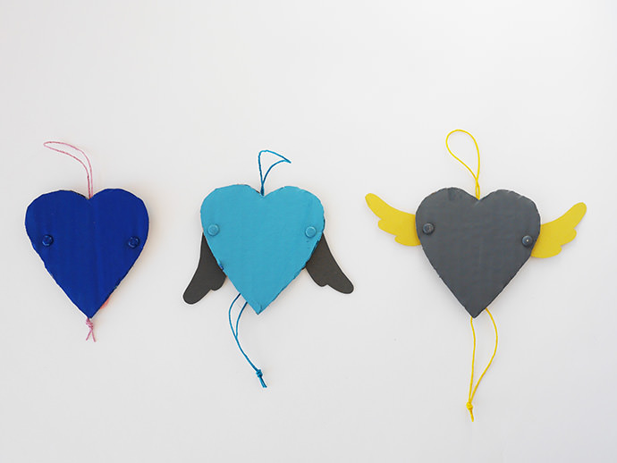 DIY Articulated Wings Valentine's Day Card