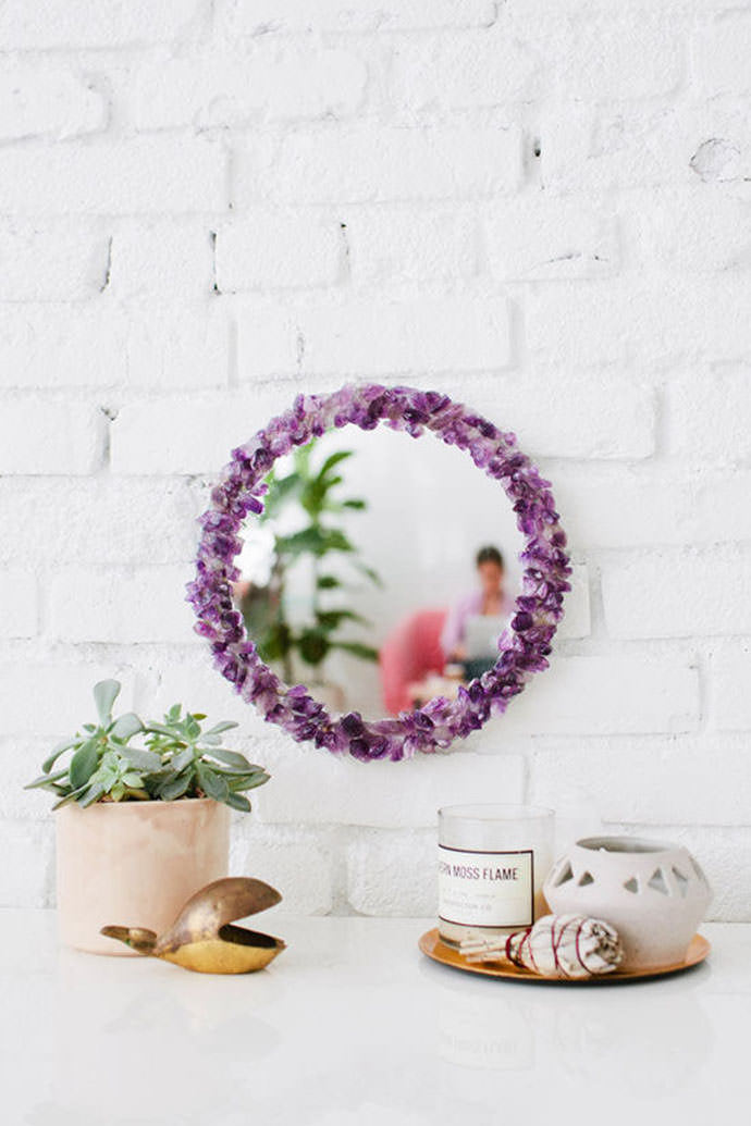 DIY Amethyst Mirror, tutorial via Design Love Fest