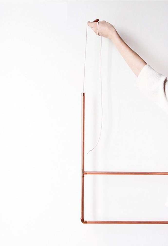 DIY Copper Clothing Rack, tutorial via SF Girl By Bay