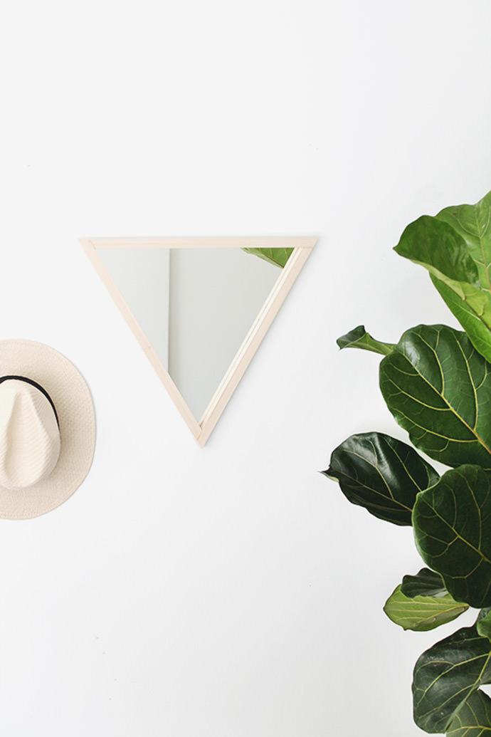 DIY Triangle Mirror, tutorial via Almost Makes Perfect