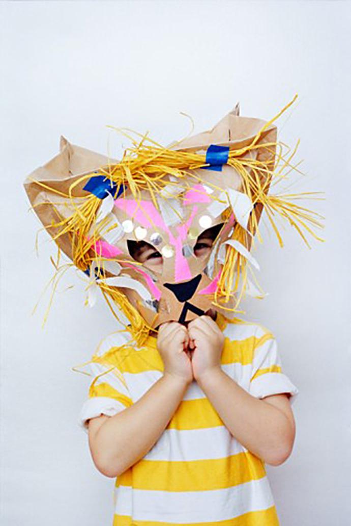 DIY Lion Carnival Mask for Kids