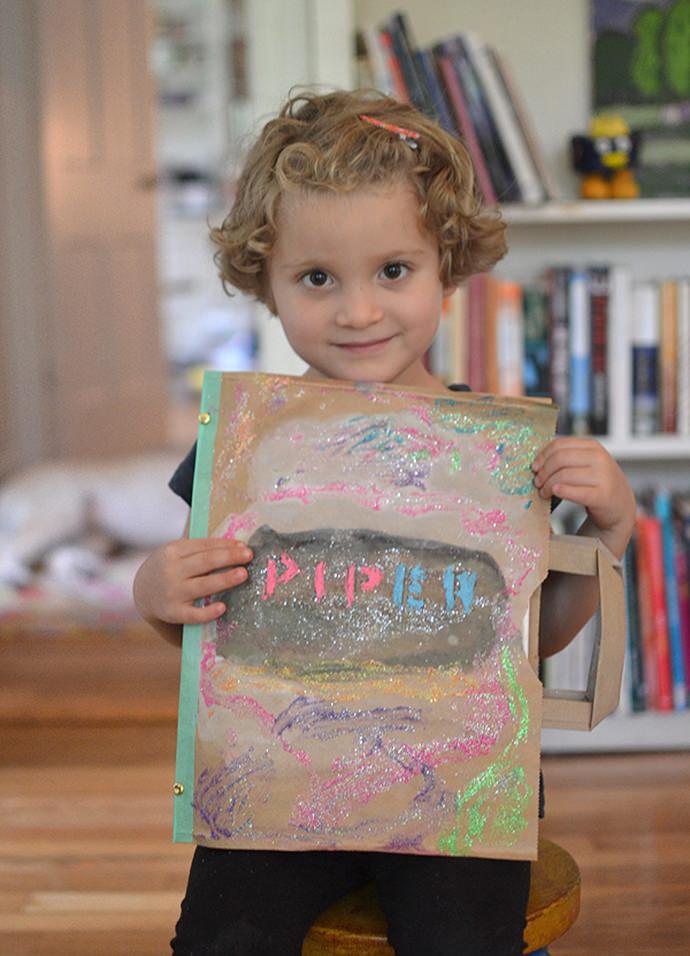 DIY Paper Bag Journal for Kids