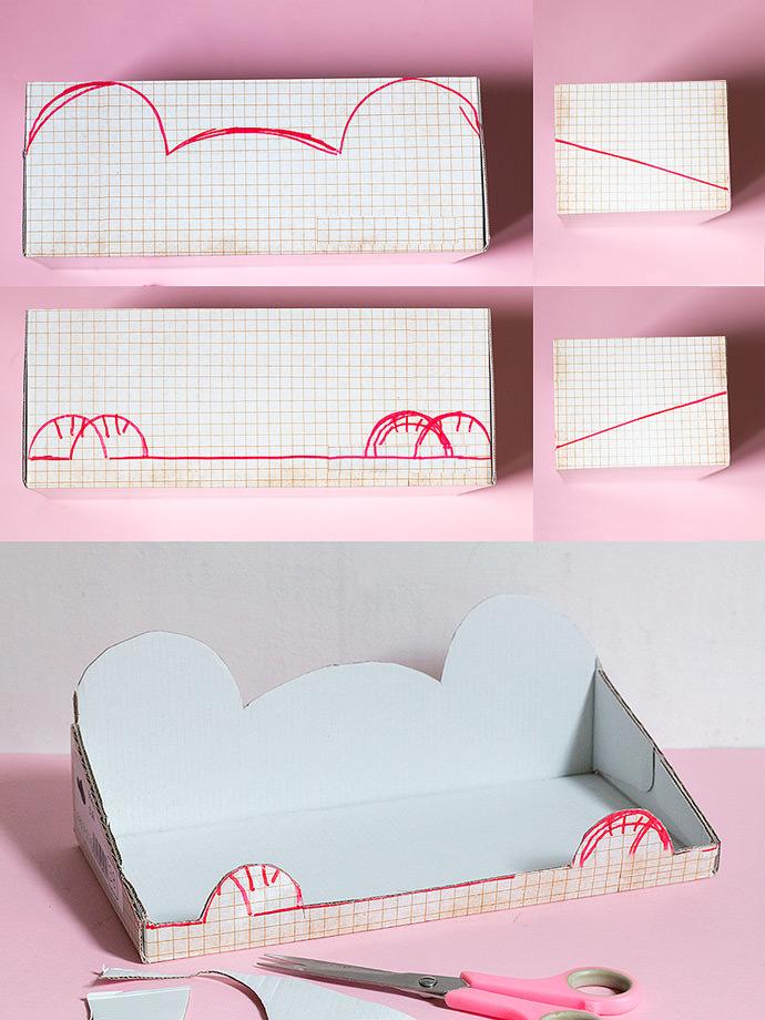 DIY Hanging Shoebox Shelf