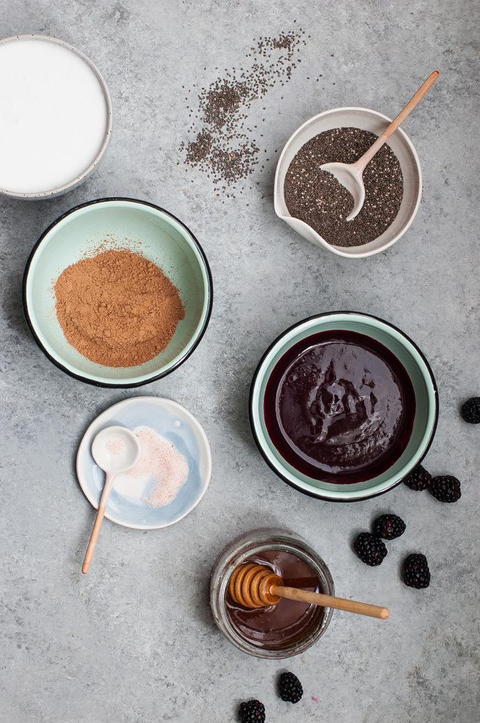 Chocolate Berry Chia Pudding Parfaits
