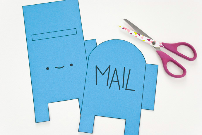 DIY Printable Happy Mail Box