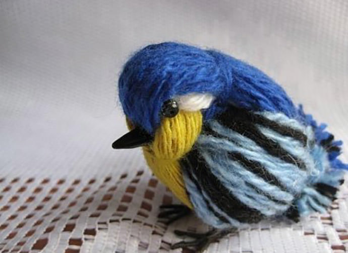 Yarn Bird, tutorial via Fab Art DIY