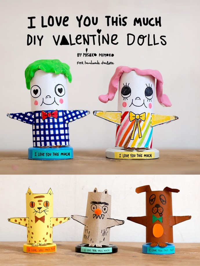 DIY I Love You This Much Paper Roll Valentines