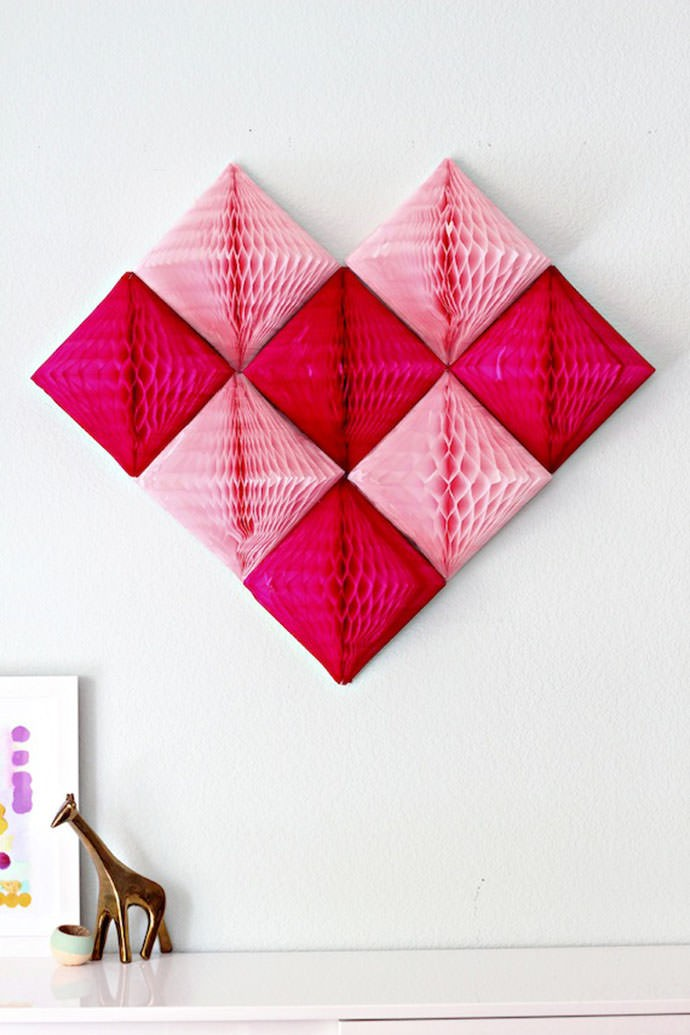 DIY Honeycomb Heart