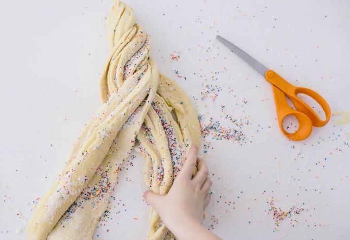 Braided Sprinkle Bread