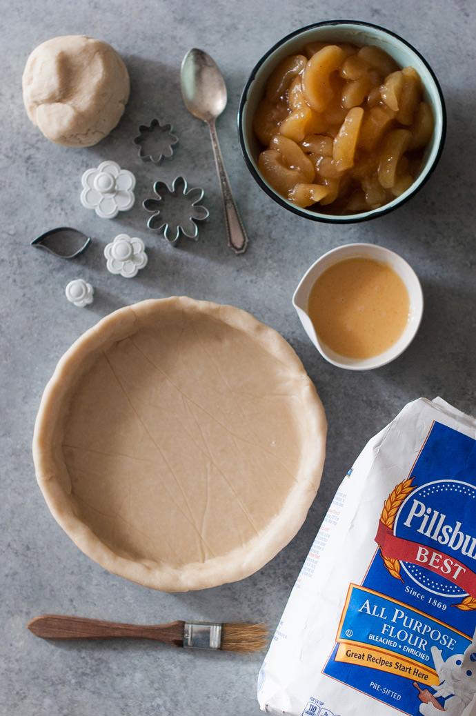 Edible Flower Pie Crust Tutorial