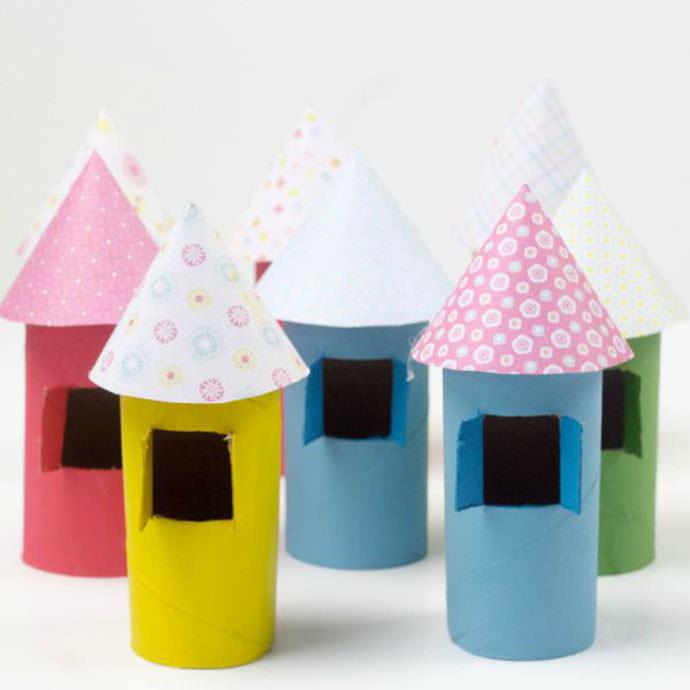 Cardboard Tube Village, tutorial via Mum in the Madhouse