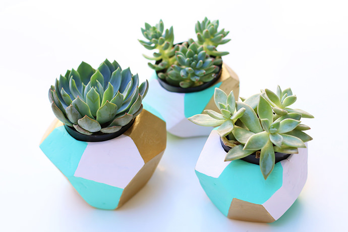 Geo Planter, tutorial via Love Plus Color
