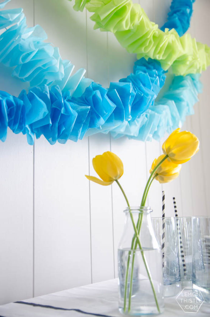 Ruffled Garlands, tutorial via Pretty Providence