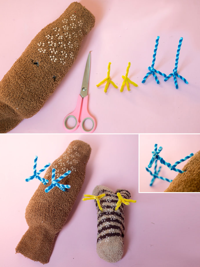 DIY Springtime Sock Sparrows