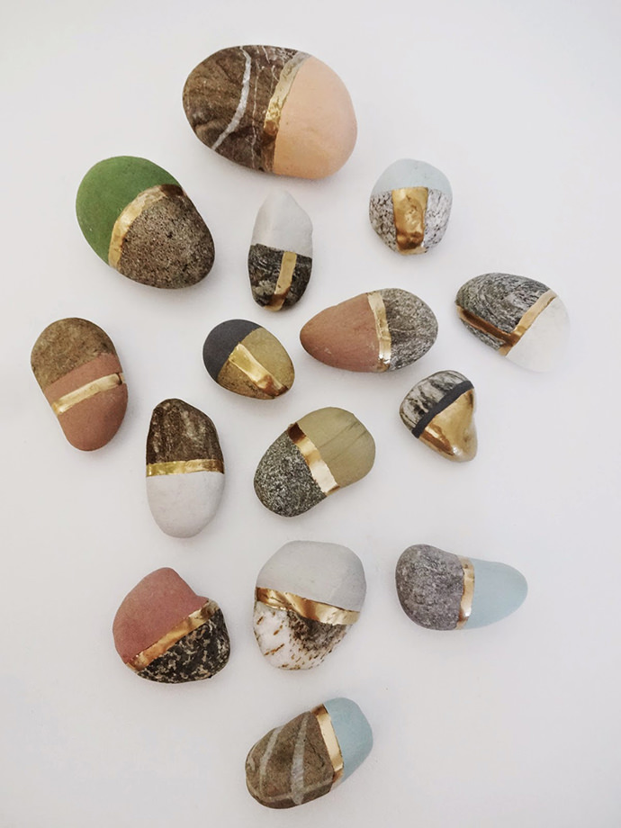 DIY Painted Rocks, via Basteln Malen Kuchen Backen
