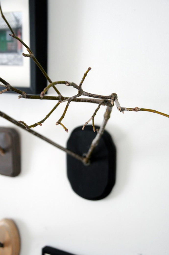 Twig Antlers, tutorial via Earnest Home Co.