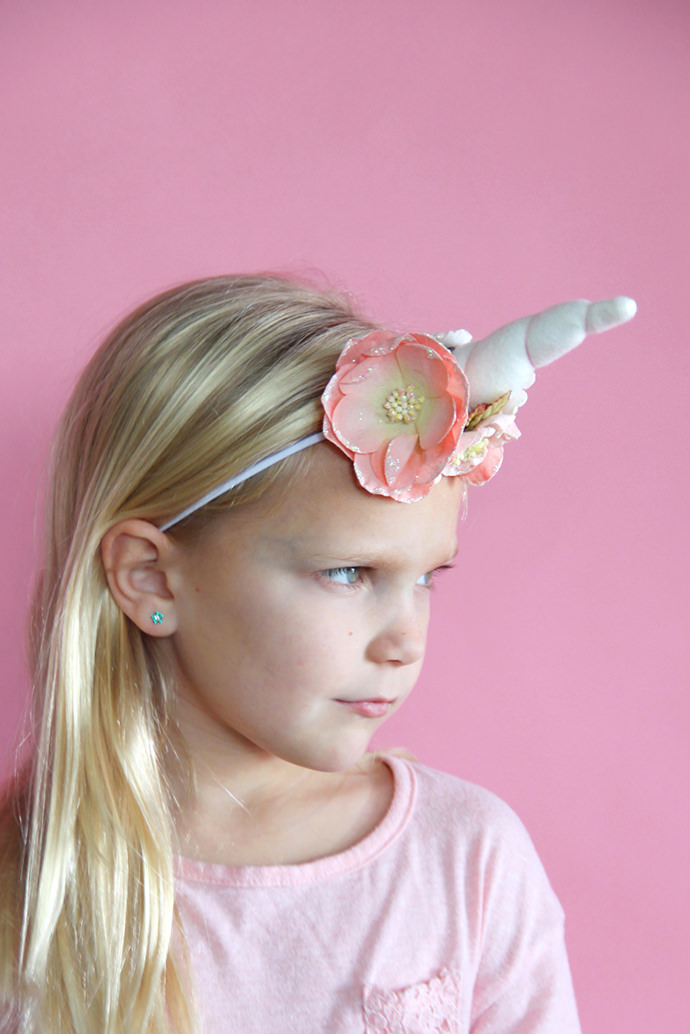 Unicorn Headband, tutorial via Me Sew Crazy