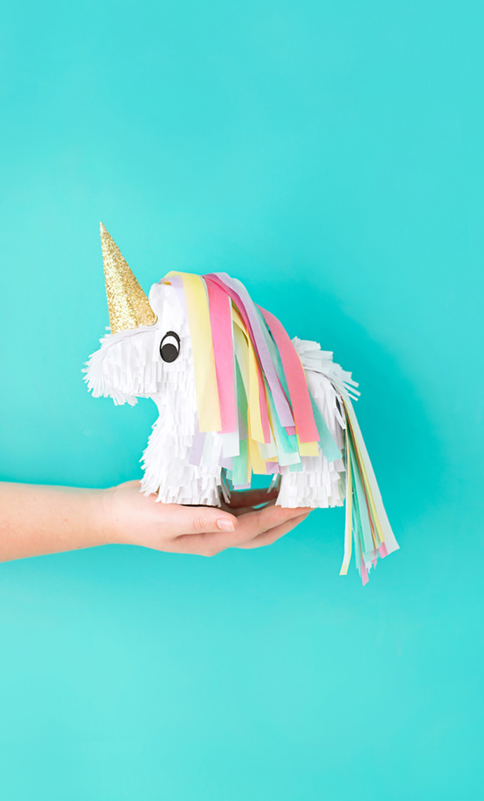 Miniature Unicorn Pinata, tutorial via A Subtle Revelry