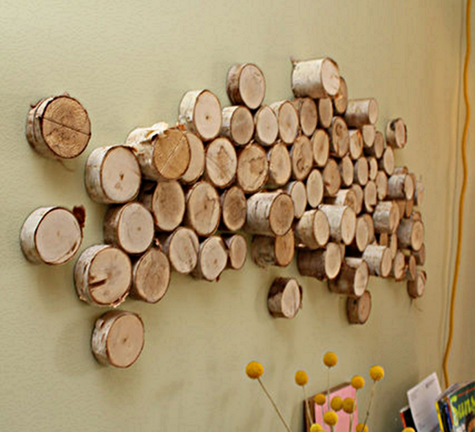 Wood Slice Wall Art, tutorial via Curbly