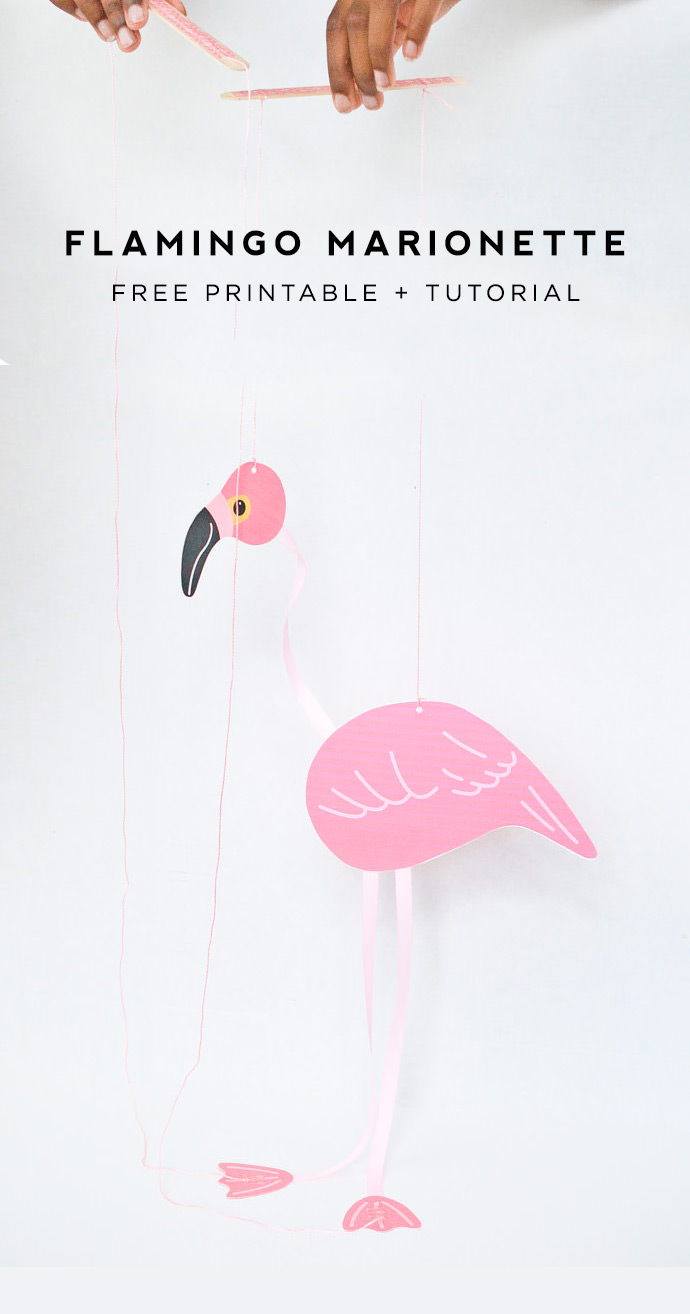Make A DIY Flamingo Marionette
