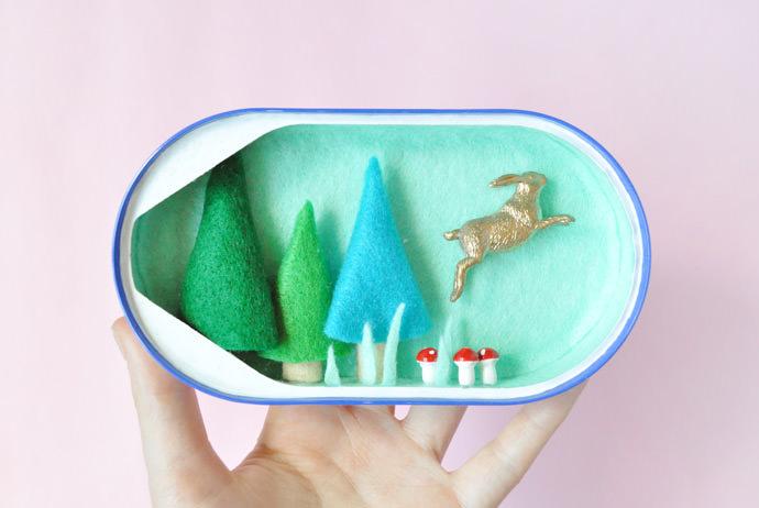 DIY Sardine Can Dioramas
