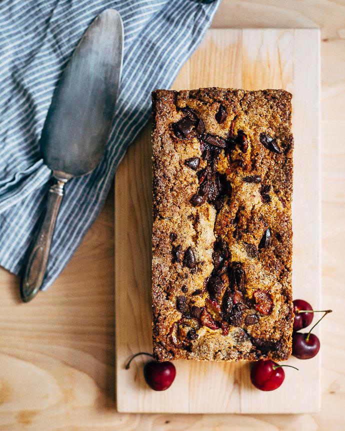 Cherry Chocolate Olive Oil Cake Recipe