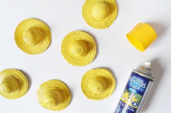 Small Straw Hats To Decorate