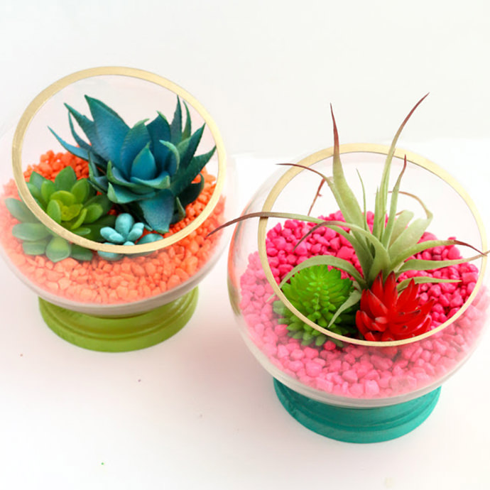 Neon Terrariums, tutorial via A Kailo Chic Life