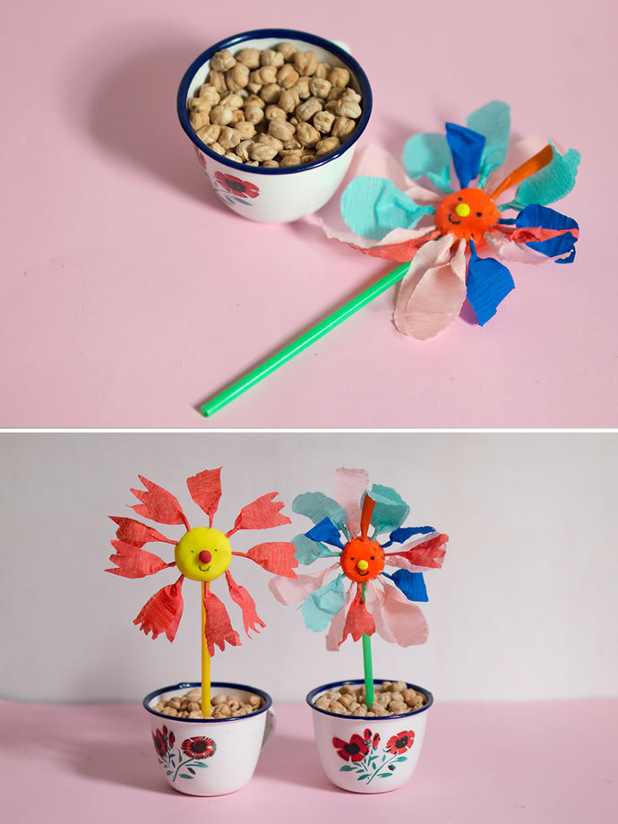 DIY Color Sorting Spring Flower Activity