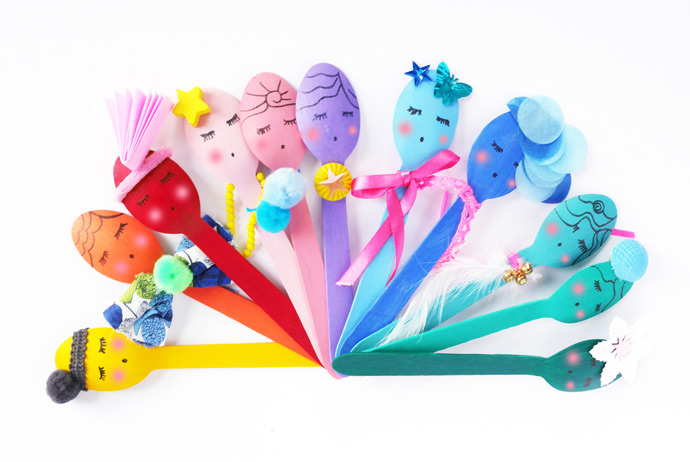 Recycled Wooden Spoon Puppets