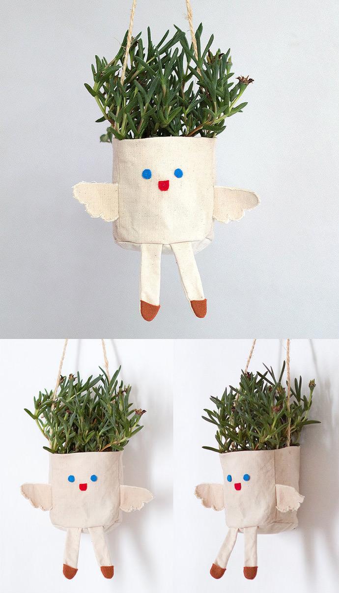 DIY Angel Hanging Planter