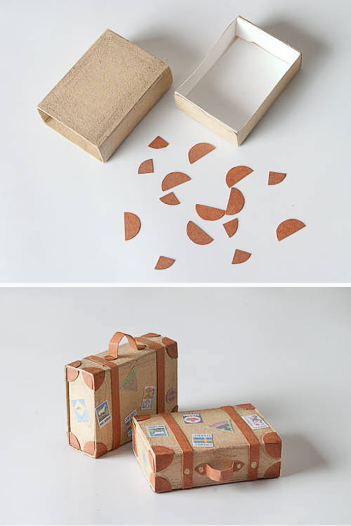 DIY Matchbox Suitcases, tutorial via Craftster