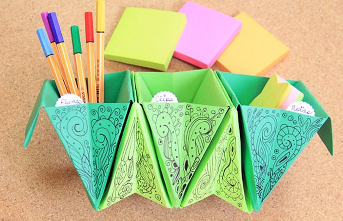 DIY Accordion Box Organizers, tutorial via Crafting Geek