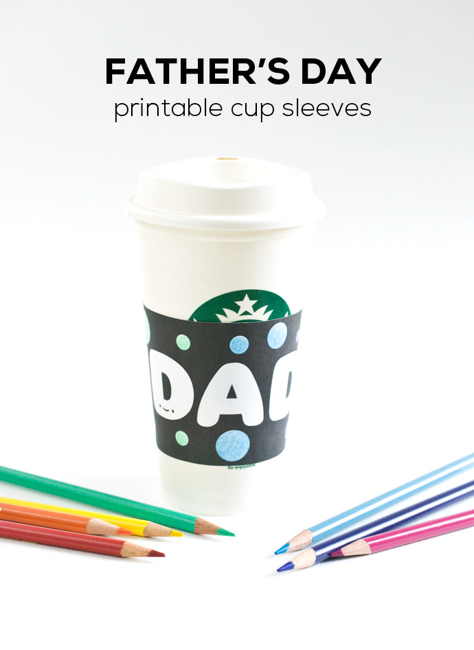 graphic regarding Coffee Cup Printable named Fathers Working day Printable Espresso Sleeves ⋆ Homemade Charlotte