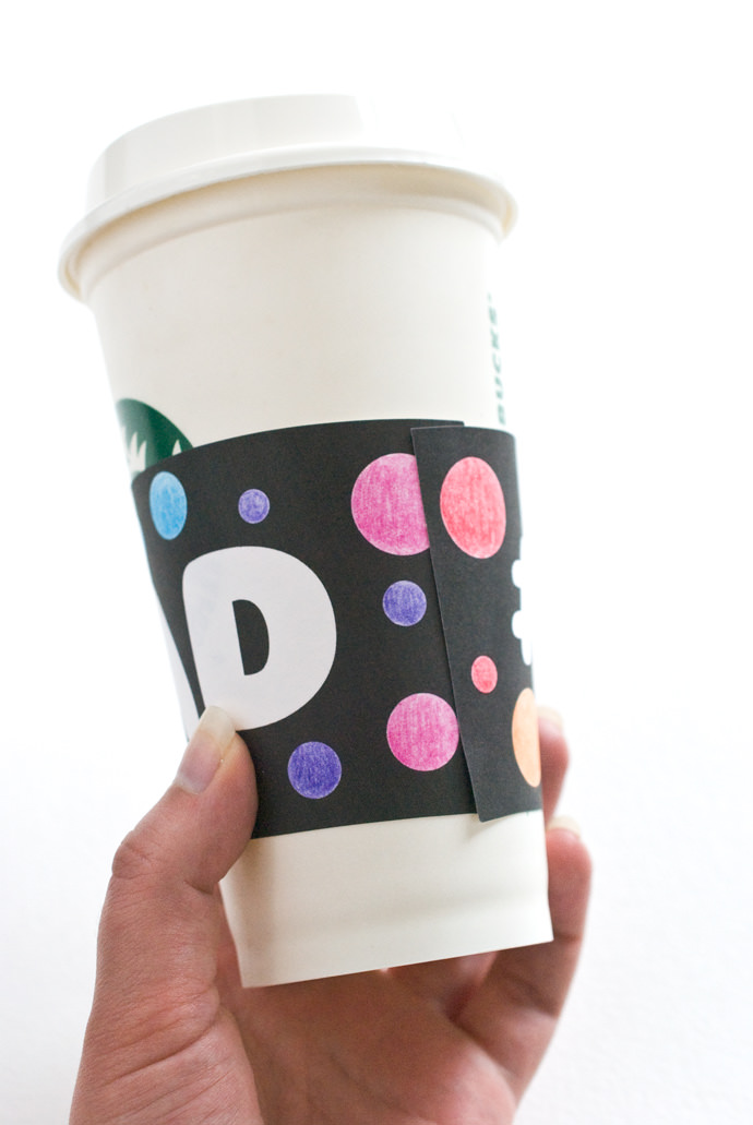 Father's Day Printable Coffee Sleeves