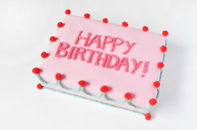 Birthday Cake Gift Wrap Handmade Charlotte