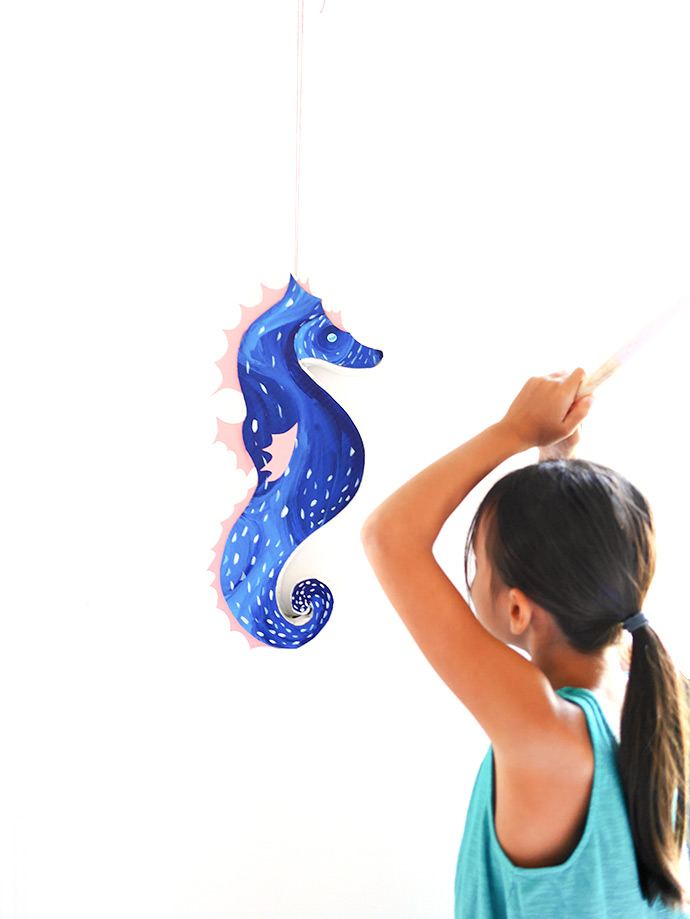 DIY Seahorse Pinata - Perfect for a kid's party!