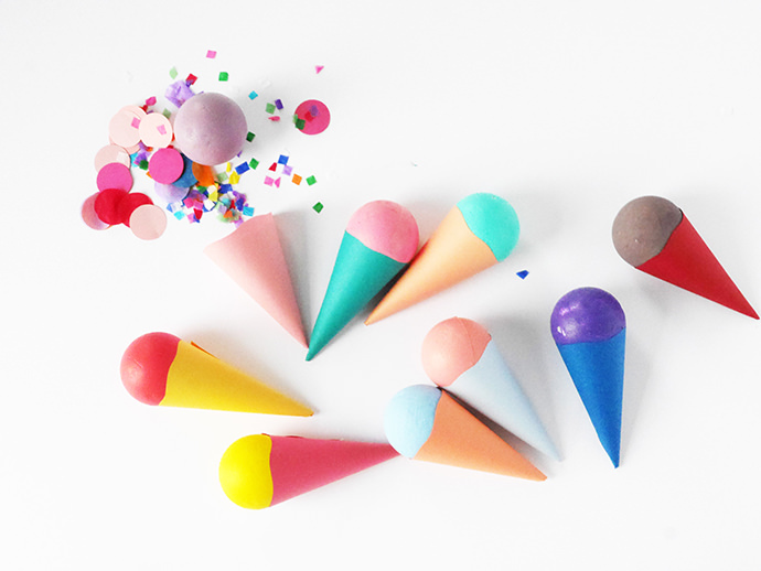 DIY Ice Cream Cone Party Favors