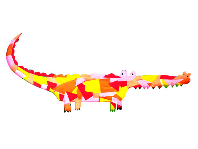 Crocodile Collage Art