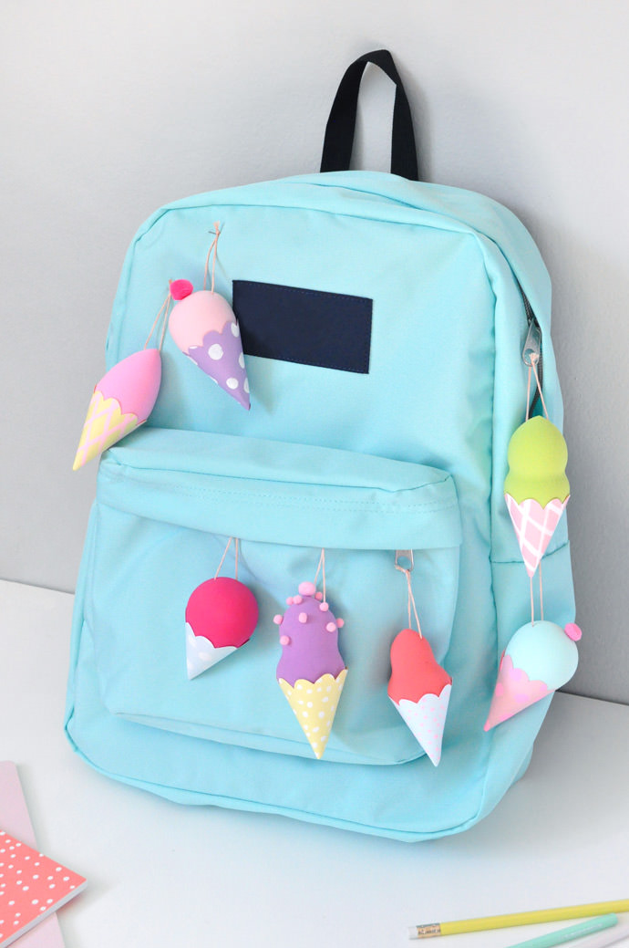 DIY Ice Cream Backpack Flair