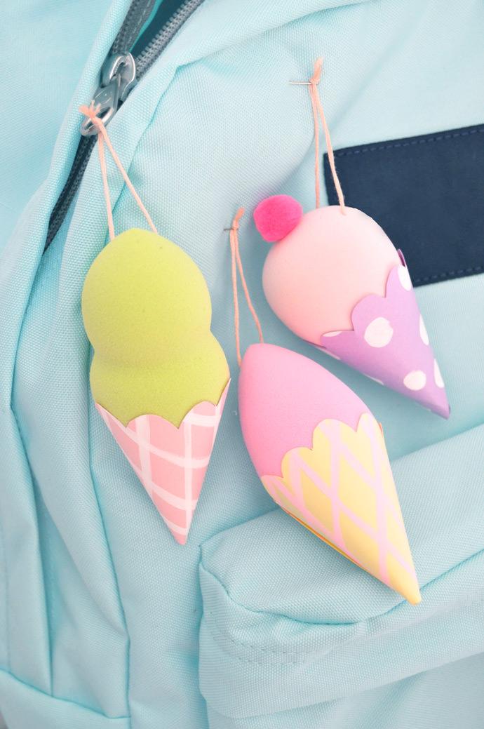 DIY Ice Cream Backpack Flair