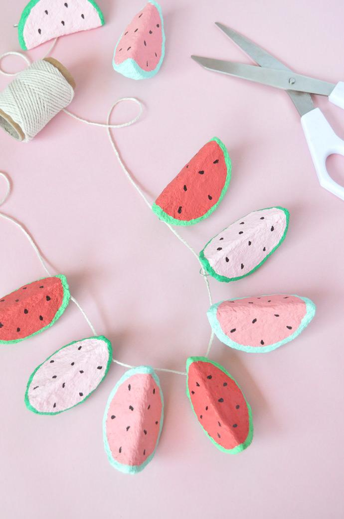 Paper Mache Watermelon Charms | Handmade Charlotte