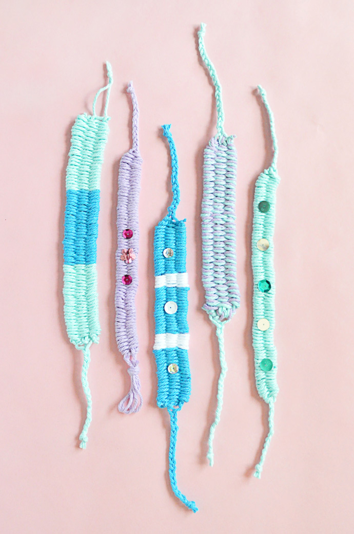 DIY Woven Yarn Friendship Bracelets