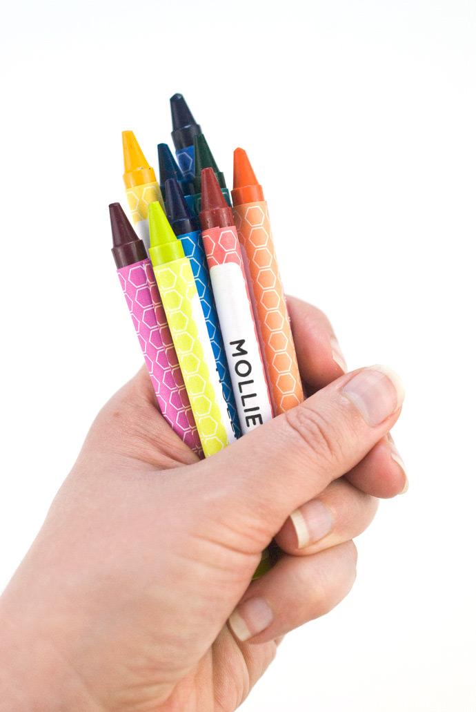 Printable Custom Crayon Wrappers