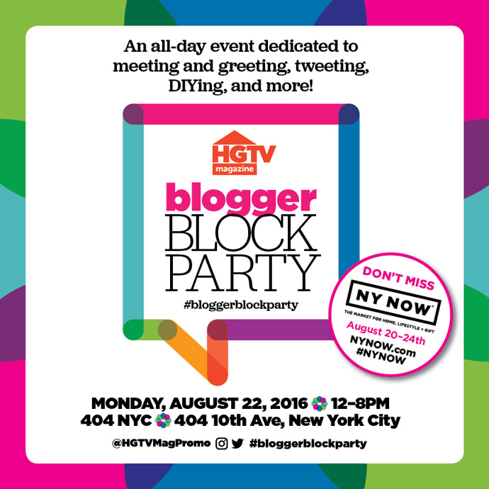 Let's Meet At The HGTV Block Party!
