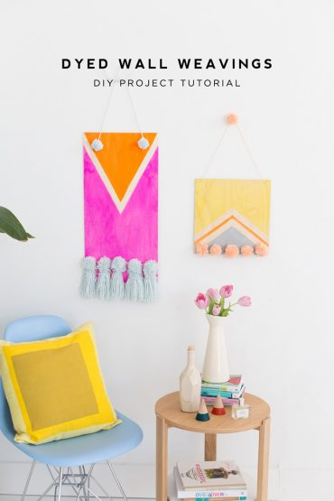 DIY Dyed Wall Weavings